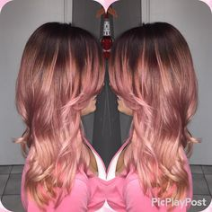 71 most popular ideas for blonde ombre hair color - Hairstyles Trends Fire Ombre Hair, Reverse Ombre Hair, Reverse Balayage, Best Ombre Hair, Ombre Hair Color, Blonde Ombre, Blonde Tips, Rose Gold Ombre, New Hair Trends