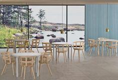 A Sculptural Plywood Chair Design – The Julie Chair by Julie Tolvanen for Inno Chair Design, Furniture Design, Plywood Chair, Outdoor Furniture Sets, Outdoor Decor, Scandinavian Design, Minimalist Design, Modern Interior, Minimalism