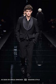 Black on black. ermanno scervino fall winter 2016 mens formalwear