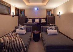 couches in home theatre rooms - cool idea