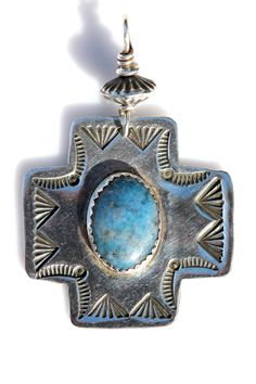 ❀Vintage sterling silver Maltese Cross Pendant. It is Southwestern Navajo style, but it is not signed so I do not know if it is Indian made or a