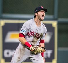 The face of a man whos up in the Baseball Scores, Red Sox Baseball, Baseball Pants, Baseball Players, Boston Sports, Boston Red Sox, Boston Bruins, Baseball Wallpaper, Andrew Benintendi