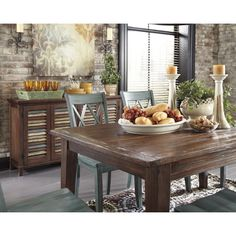 Rustic Dining Room Table: Rustic (5pc Table And Side Chairs Dining ...