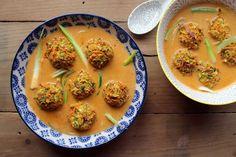 Vegan & Gluten Free Thai Meatballs with Coconut Sauce
