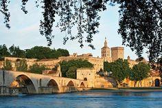 Avignon from VBT's Provence: The Alpilles biking vacation. #Provence #France