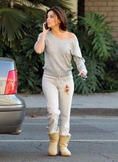 Eva Longoria wearing Ugg Australia Bailey Button boots Eva Longoria North Hollywood November 23 2011