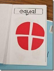 Fraction book: equal parts, halves, etc.