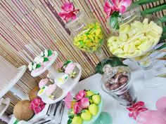 Lolly buffet, I love the use of tropical fruit lollies