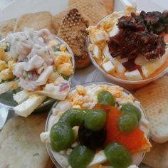 Degustación de salmorejo en el Mercado Lonja del Barranco de Sevilla: http://puturru.com/pintxos-es-es/mercado-lonja-del-barranco