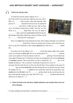 grade imaginative essay writing wordzila com grade  hatton garden burglary listening and vocabulary worksheet