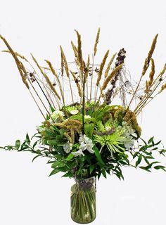 http://holmsundsblommor.blogspot.se/2012/09/blomsterhav.html Chrysanthemum, alströmeria, ammaranthus, fisknät
