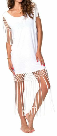 Wanderlush Cover-Up <3 Would be Adorable with Beaded Barefoot Sandals