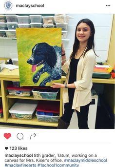 Tatum's Art-Kim & Karen: 2 Soul Sisters (Art Education Blog): Amazing student artist! (Maclay Middle School Art)...