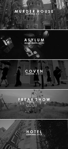 """""""It's a filthy goddamn horror show."""" American Horror Story (2011-present)"""