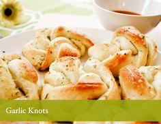 Garlic knots using pizza dough