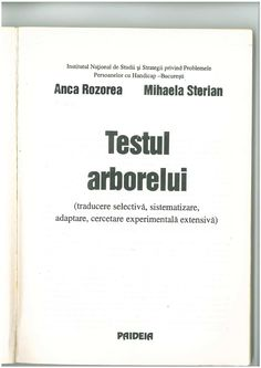 Testul Arborelui-Anca Rozorea Mihaela Sterian