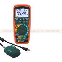 http://handinstrument.se/multimeter-r742/tradlos-multimeter-433mhz-53-EX542-r779  Trådlös Multimeter (433MHz)  Äkta RMS mätningar för noggrann AC Spänning och strömmätningar  AC / DC spänning och ström, resistans, kapacitans, frekvens (elektrisk / elektronisk), temperatur, Duty Cycle, diod / kontinuitet  Dubbel gjuten för vattentäta (IP67) skydd, CAT IV-600V säkerheten betyg för industriella tillämpningar  Data Acquisition läge i realtid dataöverföring direkt till din dator  1000V...