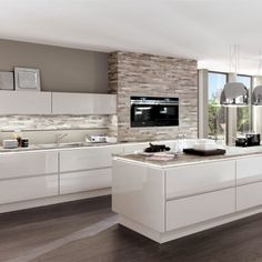 grey clad in kitchen all white kitchen love the white tops with