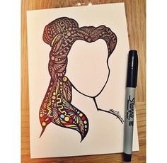 Zentangle Beauty without the Beast by DesignsByBlynn on Etsy