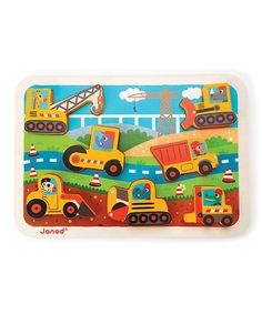 Look what I found on #zulily! Chunky Seven-Piece Construction Puzzle #zulilyfinds
