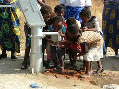 Children drinking from a newly dug bore hole pump at the World Hope International training garden, Mochipapa Church, Choma, Southern Province, Zambia Faith Without Works, Southern Province, Vanuatu, Work Travel, South Pacific, The Republic, Where The Heart Is, Non Profit, Hotels And Resorts