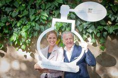 Inaugurazione Milano 15 giugno 2016 - Filippa Lagerback, brand ambassador Accademia del Profumo e Luciano Bertinelli, presidente Accademia del Profumo