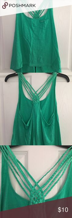 Hollister tank top Never worn Hollister tank top with strappy back detailing Hollister Tops Tank Tops
