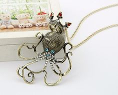 The King of the Sea Octopus Necklace from JewelryLP's Octopus Collection. This amazing necklace makes a great gift for the holidays #jewelry #jewelryLP #octopusnecklace #octopus #necklace #gifts