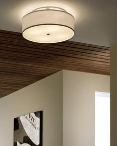 Mulberry Ceiling Large White Satin Nickel from Tech Lighting