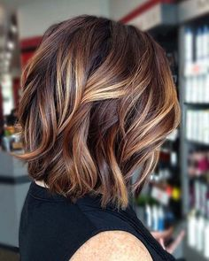Dark Red and Golden Blonde Balayage Lob