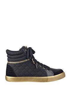 Genio High-Top Gold Zipper Sneakers