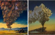 Невидимые города: цикл картин Мартина Колпановича (Marcin Kolpanowicz)