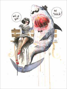 Mr Shark by Lora Zombie