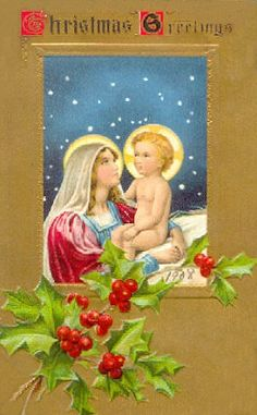 Vintage Nativity Card