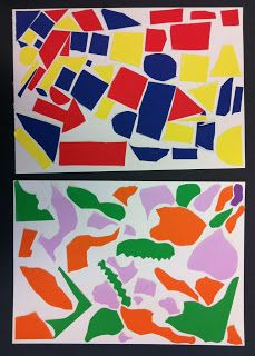 primary vs secondary geometric vs organic Art Room 104: 2nd Grade Shape Collages