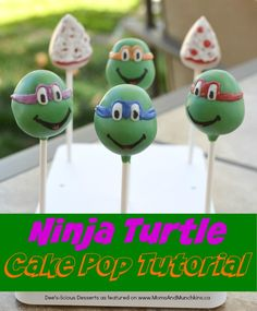 The fabulous Deanna of Dee's-licious Desserts walks us through the steps of creating Ninja Turtle Cake Pops for your TMNT party! It even includes pizza!