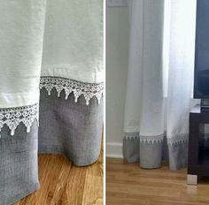Trendy Sewing Room Curtains Home Ideas No Sew Curtains, Grey Curtains, Curtains With Blinds, Bedroom Curtains, Diy Bedroom, Hanging Curtains, Window Coverings, Window Treatments, Curtain Length