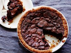 Tyler Florence's Bourbon and Chocolate Pecan Pie from Food Network #thanksigiving2014ishappening