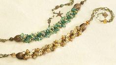 Sand and sea kumihimo necklace hero