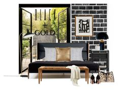 """Black and gold bedroom..."" by gloriettequartet on Polyvore featuring interior, interiors, interior design, home, home decor, interior decorating, Milton & King, Gubi, Madeline Weinrib and De La Espada"