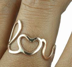 Love Ring, Bronze. Friendship Ring Bridesmaids ring