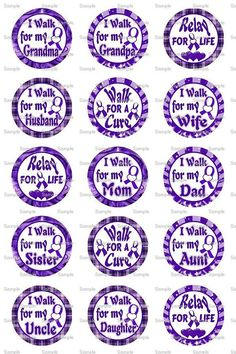Relay for Life 5 Bottle Cap Images 4x6 Bottlecap by designsbyPM, $2.00