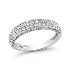 wedding rings finger , 10k White Gold Diamond Ring (1/2 Cttw I-J Color, I2-I3 Clarity) REVIEW