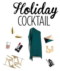 """""""summer night out"""" by medonica ❤ liked on Polyvore featuring BCBGMAXAZRIA, Halston Heritage, AS29, MM6 Maison Margiela, Sole Society, Christian Dior, Marc Jacobs, Nails Inc., Summer and gold"""