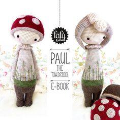 PAUL the toadstool  lalylala crochet pattern / van lalylala op Etsy