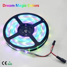 5M 12V IP67 Tube Waterproof Addressable WS2811 ICs Magic Dream Color 5050 SMD LED Flexible RGB Strips light 30LED/m Neon lamp #Affiliate