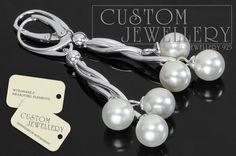 #Kolczyki #srebrne 925 na elementach #Swarovski zapraszamy do www.customjewellery.pl