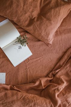 Comfortable linen duvet cover Linen Texture in Brick (Dark Orange) color. See more on our website and pick up gorgeous sheets and pillowcases for it. Bed Linen Sets, Linen Duvet, Linen Fabric, Linen Sheets, Linen Bedroom, Orange Brick, Photo Deco, Brick Colors, Brown Aesthetic