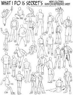 Human Figure Drawing Reference Reference: Men's clothing by what-i-do-is-secret - Human Figure Sketches, Human Sketch, Male Figure Drawing, Figure Sketching, Figure Drawing Reference, Guy Drawing, Drawing Skills, Drawing Poses, Art Reference Poses