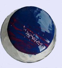 cake mirror glaze, tort z glazurą lustrzaną